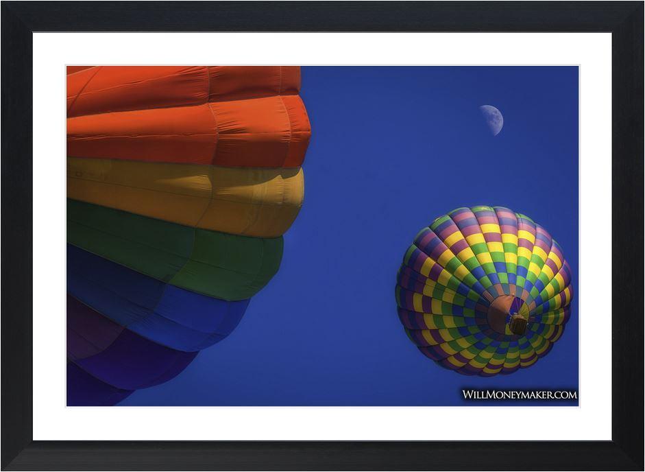 Up, Up, and Away Hot Air Balloon Photo Print